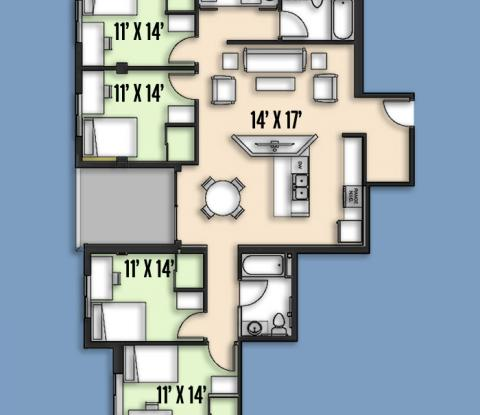 Second & Daniel - Floorplan - Type-A