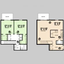 Colorado Oaks - Floorplan - 2BED 1.5BATH - 2Floor - DELUXE