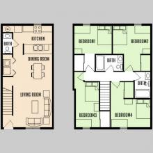 Carriage Way - Floorplan - 4BED 2.5BATH